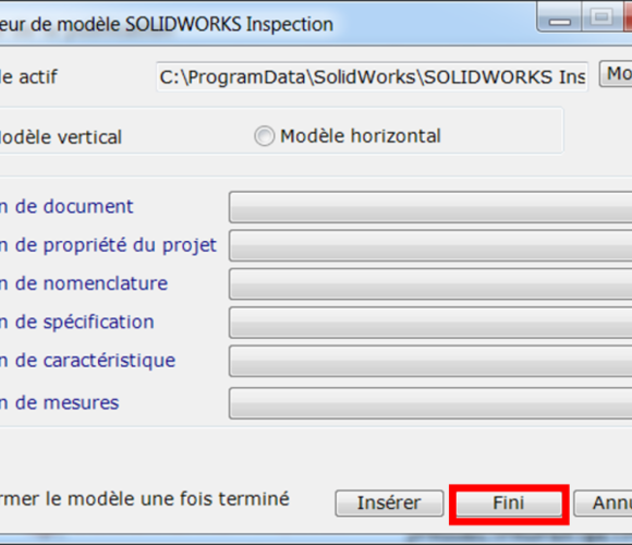 [SolidWorks Inspection] Standalone : Modèle d'export Excel