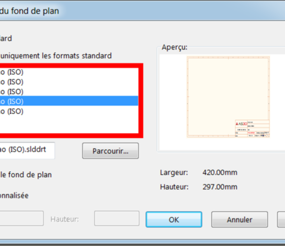 Faire apparaitre vos fonds de plan en standard