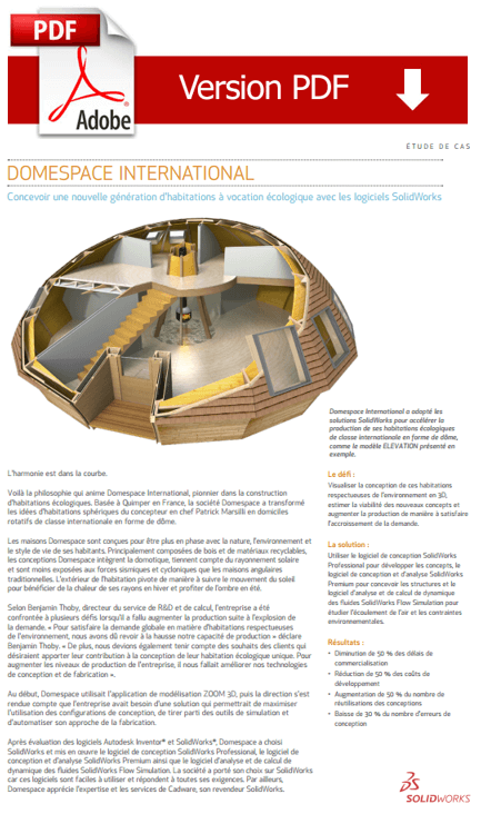 Cas client : Domespace Internatioanl