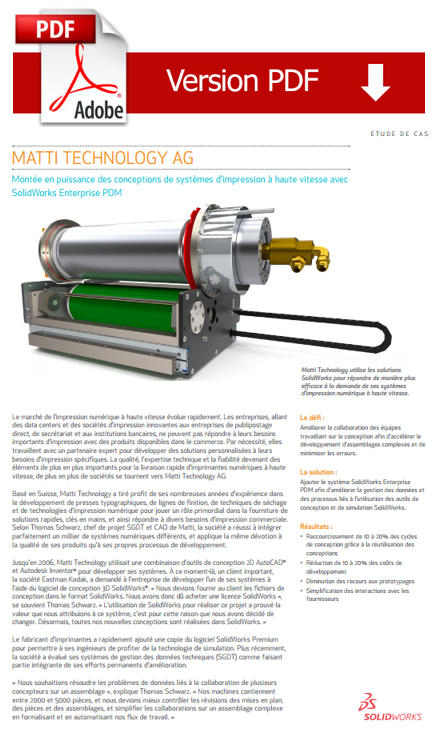 Cas client : Matti Technology