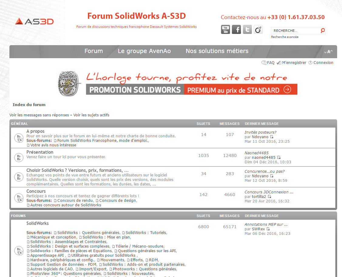 Forum SOLIDWORKS A-S3D